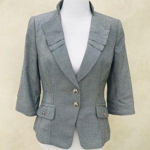 White House Black Market Gray Cropped Jacket NWOT